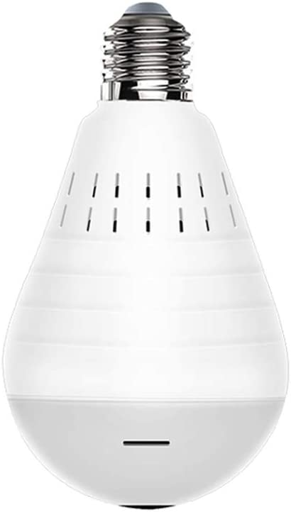 360 Degree Wireless Network 1.3 Million 960P HD Security Surveillance Camera WiFi Remote Panoramic Home Bulb,Lightnightvision(nocard)