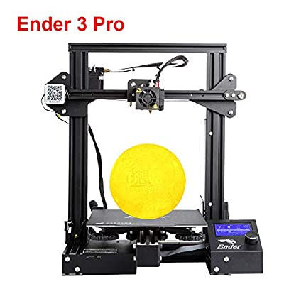 """Creality Ender 3 Pro 3D Printer with Upgrade Cmagnet Build Surface Plate, MK-10 Parent Nozzle, UL Certified Power Supply 8.6"""" x 8.6"""" x 9.8"""""""