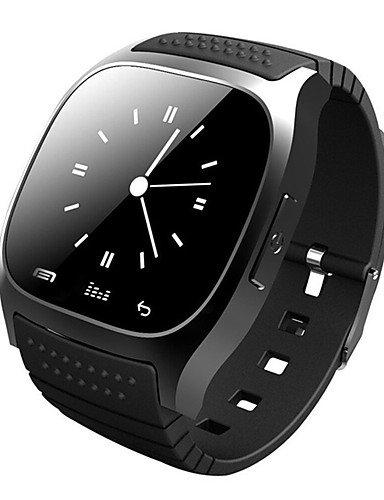 Lemumu Propietario de tiempo M26 relojes inteligentes Reloj Bluetooth para dispositivos portátiles Android,Negro Social: Amazon.es: Electrónica