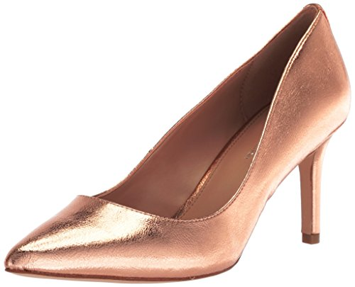Bcbgeneration Womens Marci Pump Balletto Flat Rose Gold Metallico Stropicciato