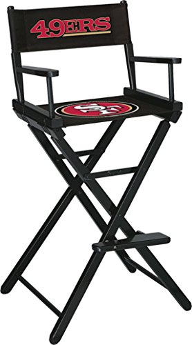 Imperial Officially Licensed NFL Merchandise: Directors Chair (Tall, Bar Height), San Francisco 49ers