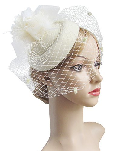Women's Vintage Hats | Old Fashioned Hats | Retro Hats Fascinator Hair Clip Pillbox Hat Bowler Feather Flower Veil Wedding Party Hat $10.99 AT vintagedancer.com