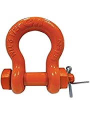 CM M846G Safety Shackle, Bolt, Nut and Cotter Pin, 3/4 Tons Working Load Limit, Galvanized Finish