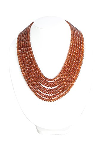 Faceted Roundel Bead Necklace - 7