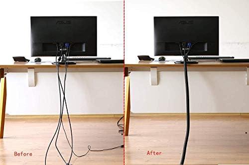 Organizador Cables, 3m Cubre Cables Expandible con Corte Fácil Negro Bridas, PET Recoge Cables Protector, Organizador de Cables Mesa a Prueba de Polvo para Office y PC Escritorio: Amazon.es: Bricolaje y herramientas