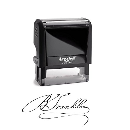 Signature Stamp - Customizable Signature Stamp - Personalized Self-Inking Signature Stamps
