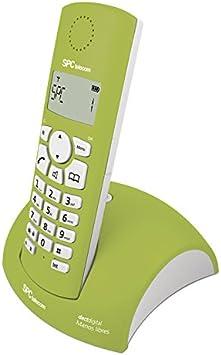 SPC Telecom 7226V - Teléfono Fijo Digital (Bluetooth, Pantalla LCD, identificación Llamadas), Verde y Blanco: Amazon.es: Electrónica