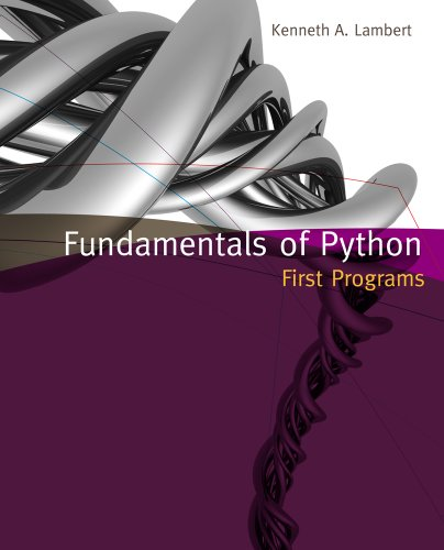 Fundamentals of Python First Programs MindTap Course List