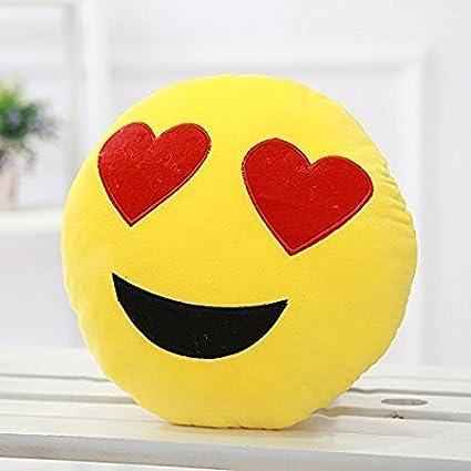 Premier design Cushion Pillow (Heart-Eyes Smiley)