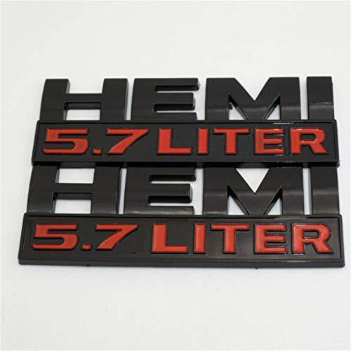 5.7 Liter Logo Decal Emblem Nameplate Badge for Dodge RAM ()