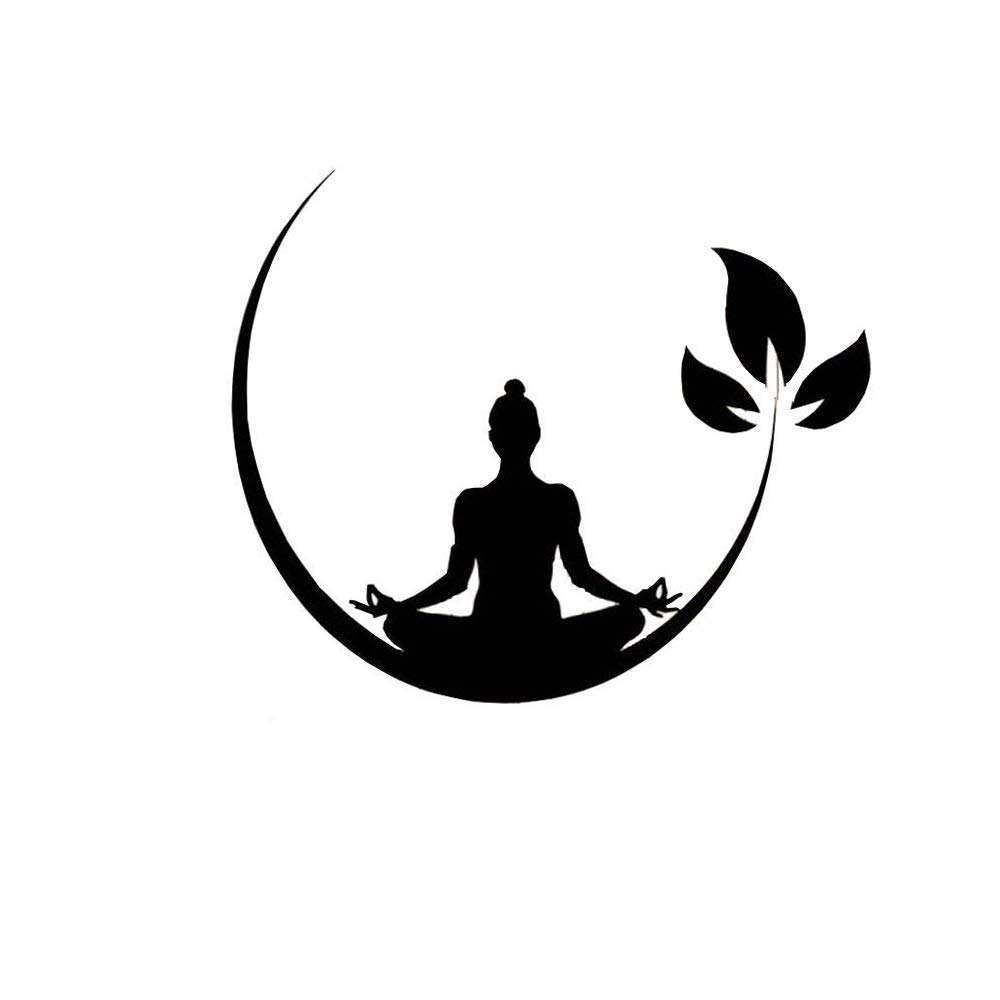 Toonol 28 x 34 cm Yoga Meditation Room Vinyl Wall Stickers Buddhist Zen Wall Decal Design Removable Wall Sticker Decor Yoga Room Wallpaper