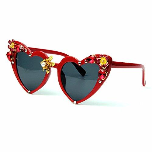 TIANLIANG04 Gato Sombras Corazón Ojo Mujer Volver De Gafas Gafas De De De Gafas Amor De Forma Sol Jewel Con r8rBxq