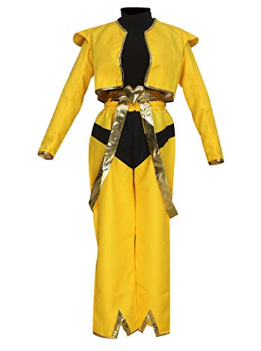 CLLMKL JoJo's Bizarre Adventure Dio Brando Cosplay Costumes (Male :Large) Yellow