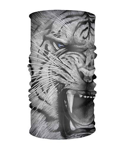 Head Wrap - Open Mouth Tiger Head Wrap Hair Scarf Tie Color