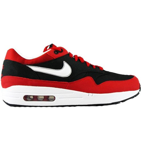 Nike Men's NIKE AIR MAX 1 RUNNING SHOES 11.5 (BLACK/WHITE-VARSITY RED)