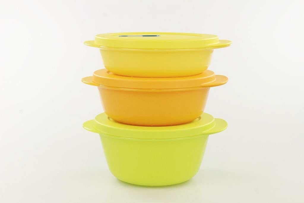 Tupperware MicroTup Crystal-Wave Mikrowellengeschirr Mikro-Fix Neu 400 ml gelb