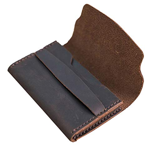 MagiDeal DIY Handmade Leather Wallet Purse Bag Making Kit Leathercraft Tools - Coffee
