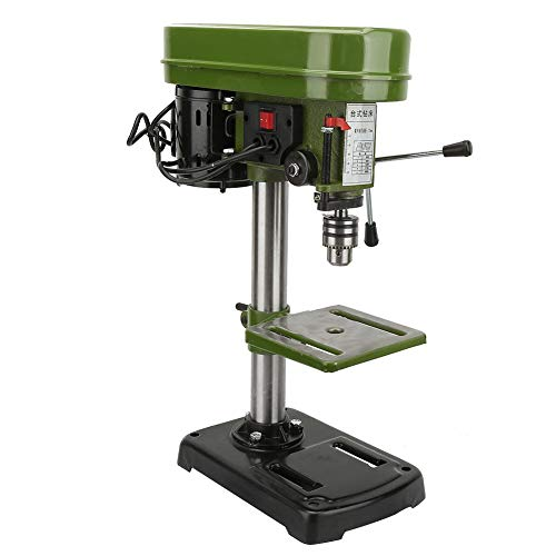 Drill Chuck Benchtop Drill Press Miniature Electric Bench Drill Press Workshop Mounted 350W 5 Speed 50mm Drilling Depth(US Plug)