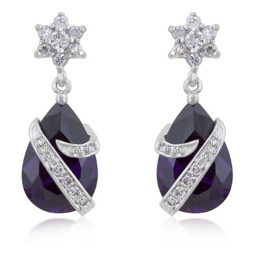 Royal Wrapped Amethyst Earrings By Kate Bissett - Royal Wrapped Amethyst Earrings