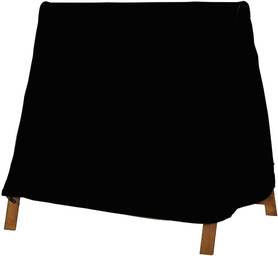 StorMaster A Frame Swing Covers for Outdoor Furniture Waterproof 72 Inch Patio Garden Yard Swing Cover 3 Seat 420D Black