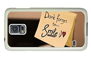 Hipster Samsung Galaxy S5 Cases free dont forget to smile PC White for Samsung S5