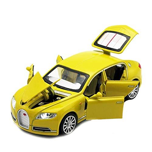 (Window Flowers 1/32 Bugatti Veyron 16C du Galibier Casting Metal Alloy Model Electronic car)