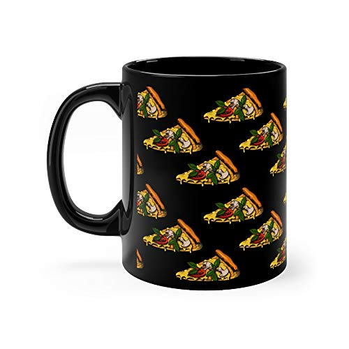 - Seamless Pattern With Hand Drawn Pizza Fast Food Background Menu Advertising And Sketch Can Be Dog Tea Fun Mug Ceramic 11 Oz Cups