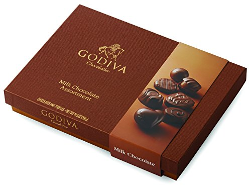 Godiva Chocolatier Milk Chocolate Assorted Gift Box, Great as a Gift, Chocolate Gifts, Milk Chocolate Candy, 22 pc