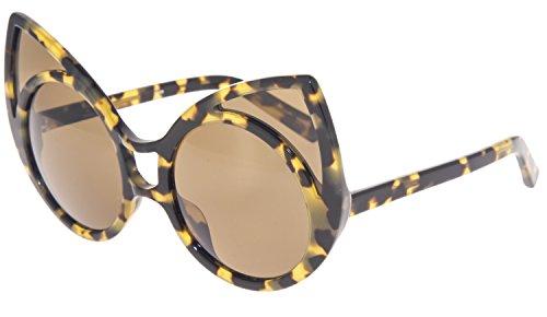 Khaleda Rajab LINDA FARROW Cat Eye Tortoise POLARIZED KR1 Unisex Sunglasses - Farrow Linda Cat Eye