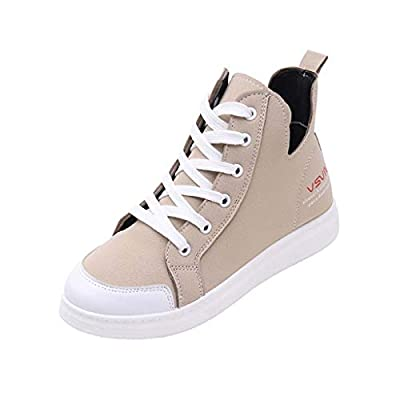 ?HebeTop? Women Lace Up Canvas Shoes Fashion Sneakers Classic Casual Preppy Style Flat Shoes