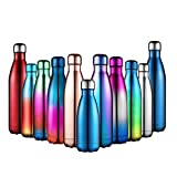 Anjoo Stainless Steel Water Bottle 500ml, Stainless Steel Vacuum Insulated Water Bottle Double-walled for Running, Camping, Cycling, Driving, traveling, Perfect Water Bottle, 500ml/17 oz