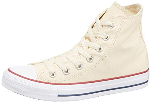 Converse Chuck Taylor All Star Core Hi, Natural White, Men's 7, Women's 9 Medium (Natural White)