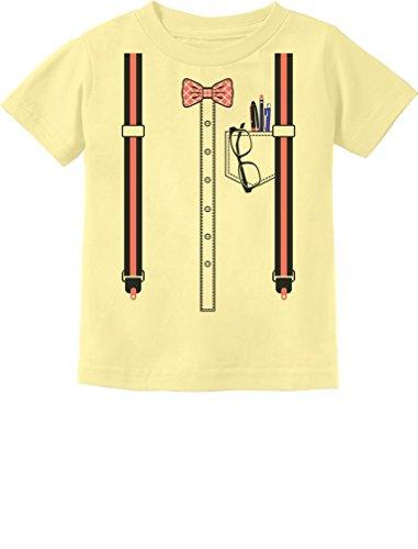 Halloween Nerd Suspenders Bowtie Geek Easy Costume Toddler Kids T-Shirt 2T -