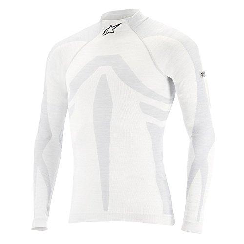 Alpinestars ZX EVO Long Sleeve Top (White/Gray, X-Large/XX-Large)