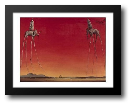 Les Elephants Dali - Les Elephants, c.1948 24x20 Framed Art Print by Dali, Salvador