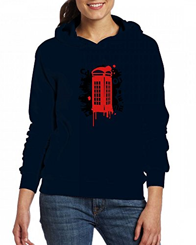 A red callbox Womens Hoodie Fleece Custom Sweartshirts