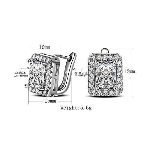 - Fashion Wedding Jewelry Zirconia Jewerly Earring Huggie Women Ear Hoop