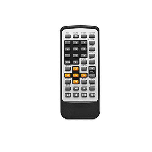 Remote Control for UEME Portable DVD Player, New Replacement