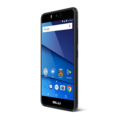 BLU R2 - 4G LTE Unlocked Smartphone - 16GB + 2GB RAM -Black (T Mobile Phones 4g)