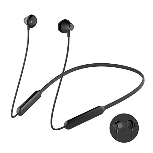 Bluetooth Headphones, Wireless Earbuds Stereo Earphones for Running with Mic and Lightweight Sports Exercise Headset in-Ear Gym Workout Headphone