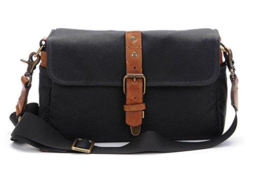 ONA - The Bowery - Camera Messenger Bag - Black Waxed Canvas