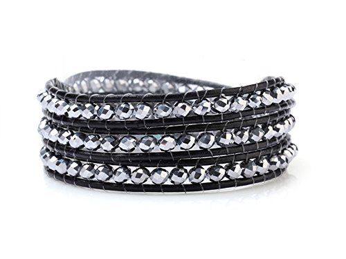 silver-crystals-wrap-bracelet-genuine-black-leather-hand-knotted-multilayer-4mm-beads-woven-bangle