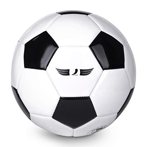 Balón de fútbol de PVC y EVA tamaño 4, tamaño 5, suave, ligero, adecuado para entrenamiento de fútbol HighLiving, equipo…