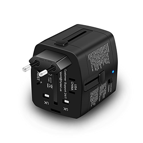 Travel Adapter and 2000 Watts Step Down Converter 220v to 110v for Electric Products Like Hair Dryer Steam Iron - Plug Adapter US to UK Europe AU for Laptop MacBook Cell Phone