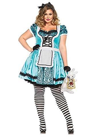 Alice In Costume Wonderland Lapin - Leg Avenue Women's Plus-Size Looking Glass Alice