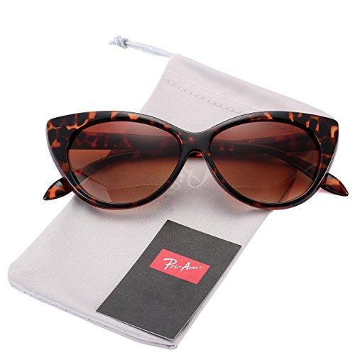 Pro Acme Cat Eye Sunglasses Clout Goggles Vintage Narrow Style Retro Kurt Cobain Sunglasses (Tortoise Frame/Brown ()