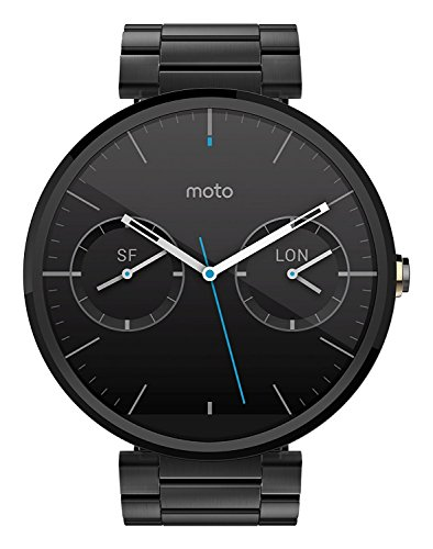Motorola Moto 360 Smartwatch w/ 23mm Metal Band - Black (Certified Refurbished) by Motorola (Image #1)