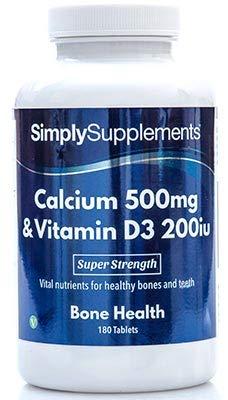 Calcio 500mg y Vitamina D3 200iu - 2 botes de 180 Comprimidos - hasta 1 año