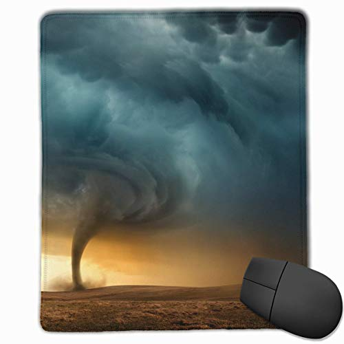 Storm Tornado Tsunami Quality Comfortable Game Base Mouse Pad with Stitched Edges ()