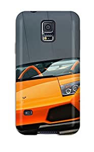 Rugged Skin Case Cover For Galaxy S5- Eco-friendly Packaging(lamborghini Murcielago 7)